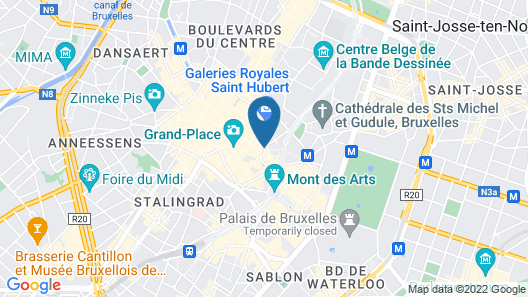 ibis Brussels off Grand Place Map