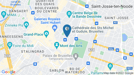 Pillows City Hotel Brussels Centre Map