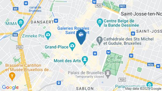 Hotel des Galeries Map