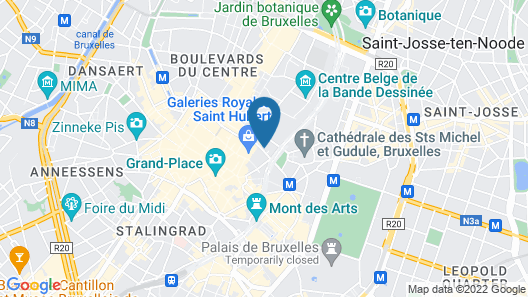 Hotel Hubert Grand-Place Map