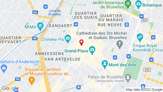 Brussels Marriott Hotel Grand Place Map