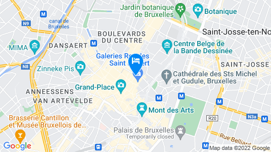 B-aparthotel Grand Place Map