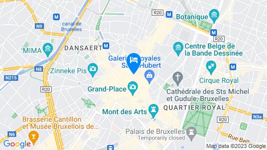 Safestay Brussels Map