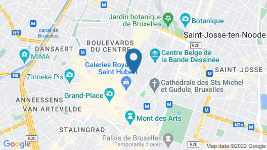 Radisson Collection Grand Place Brussels Map