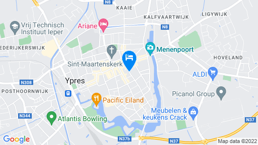 Alliance Hotel Ieper Centrum Map