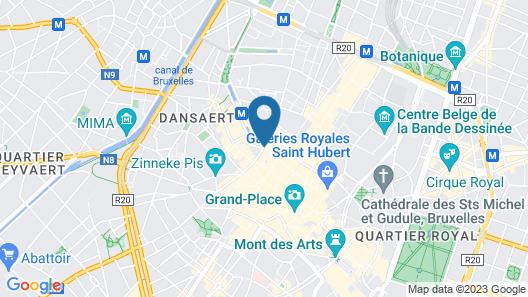 Novotel Brussels City Centre Map
