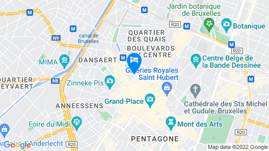 Novotel Brussels City Centre Map