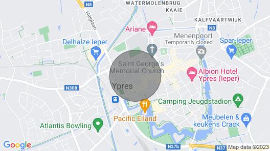 Zwei Weiße Tauben - Stilvoll & Einzigartiges Ferienhaus im Herzen der Charmanten Ypres Map