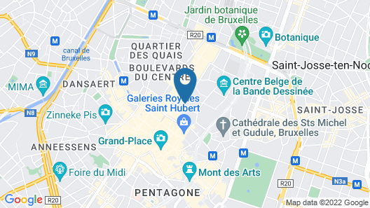 easyHotel Brussels City Centre Map