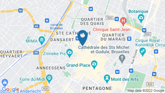 ibis Brussels City Centre Map