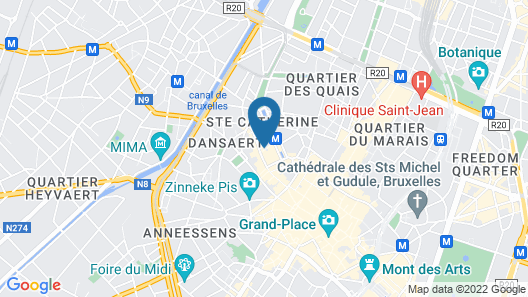 B&B Be In Brussels Map