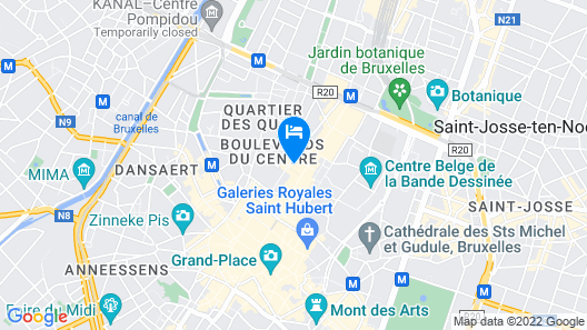 NH Collection Brussels Centre Map