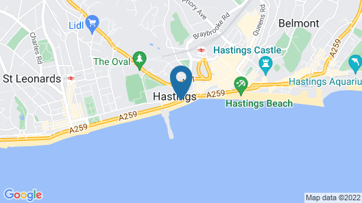 The White Rock Hotel Map