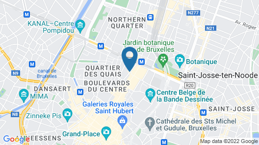 Hotel Le Plaza Brussels Map