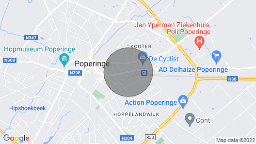 Ferienwohnung in Poperinge, Belgien Map