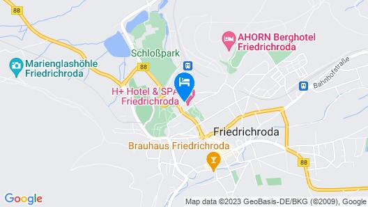 H+ Hotel & SPA Friedrichroda Map