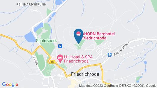 AHORN Berghotel Friedrichroda Map
