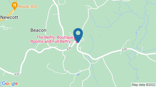 The Belfry at Yarcombe Map