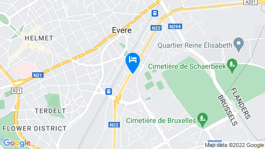 Courtyard by Marriott Brussels Map
