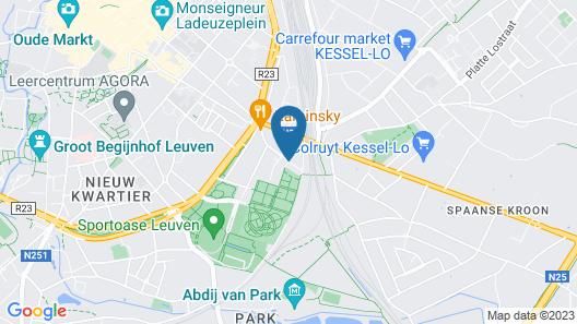 Budget Flats Leuven Map