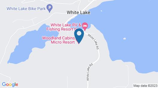 Woodland Cabins Map