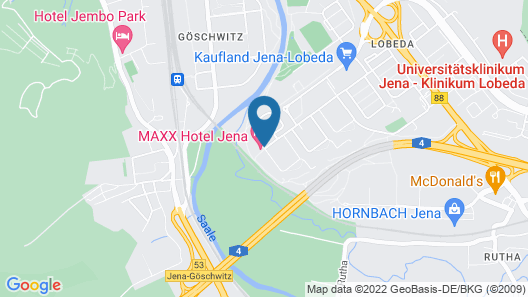 MAXX Hotel Jena Map