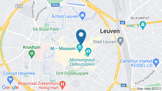 Smartflats Budget Louvain Central Map