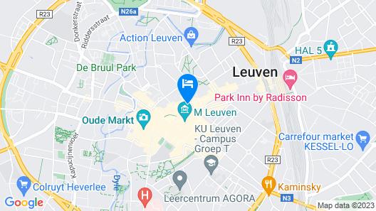 Smartflats Budget Louvain Central Map