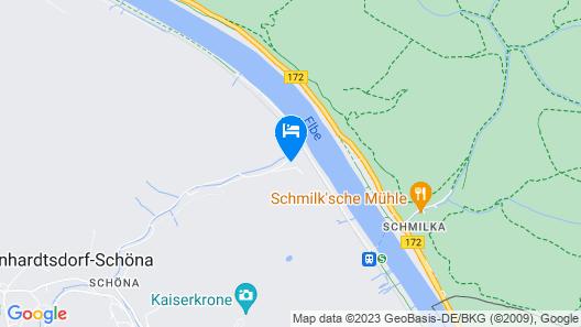 Die Burg Schöna - In a national park Map