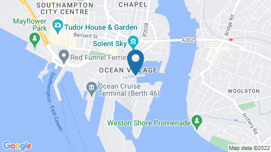 Southampton Harbour Hotel Map