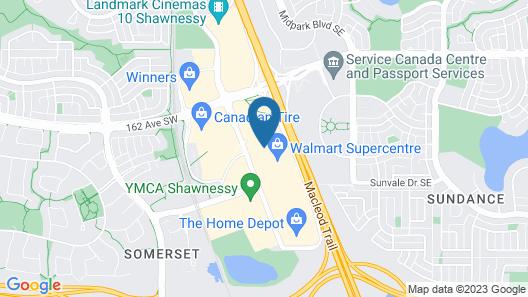 Super 8 by Wyndham Calgary Shawnessy Area Map