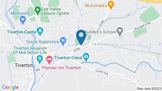 Best Western Tiverton Hotel Map