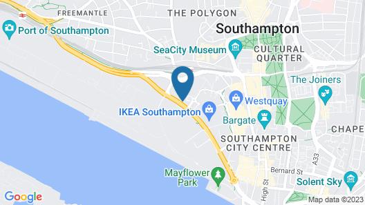 ibis Southampton Centre Map