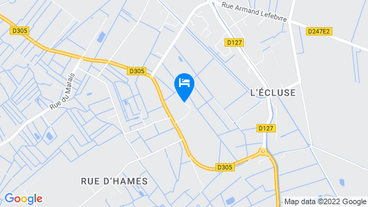 3 Bedroom Accommodation in Hames Boucres Map