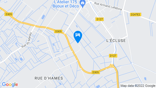1 Bedroom Accommodation in Hames-boucres Map