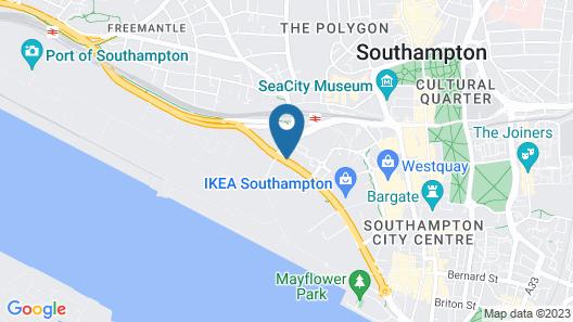 Novotel Southampton Map
