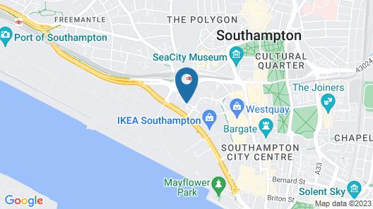 ibis budget Southampton Centre Map