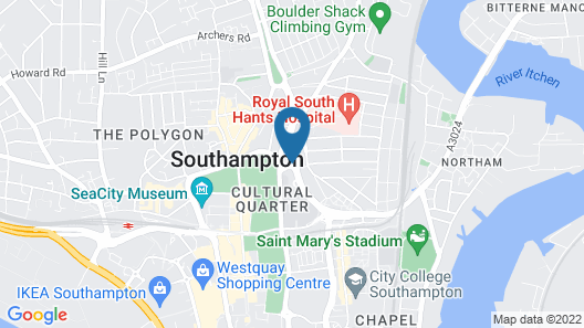 Jurys Inn Southampton Map