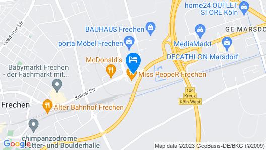 B&B Hotel Köln-Frechen Map
