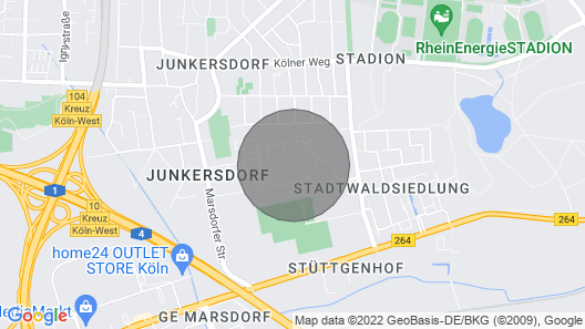 K71 Holiday Apartment Cologne Junkersdorf Map