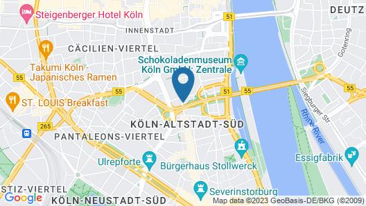 Mercure Hotel Severinshof Köln City Map