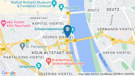 art'otel cologne, by Park Plaza Map