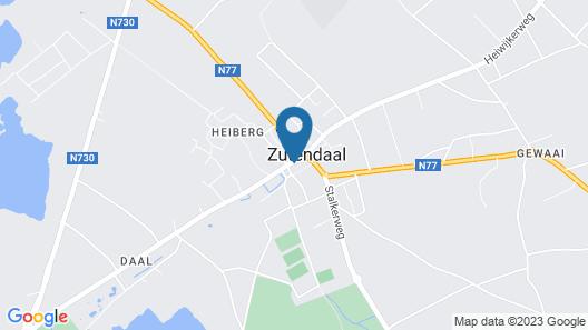 Hotel-Brasserie De Klok Map