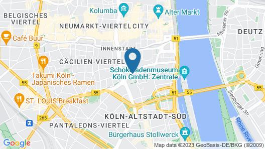 Aparthotel Adagio Köln City Map
