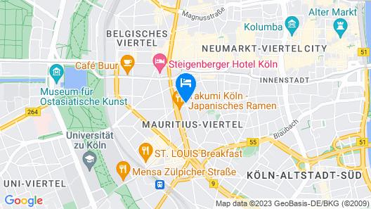 a&o Köln Neumarkt Map