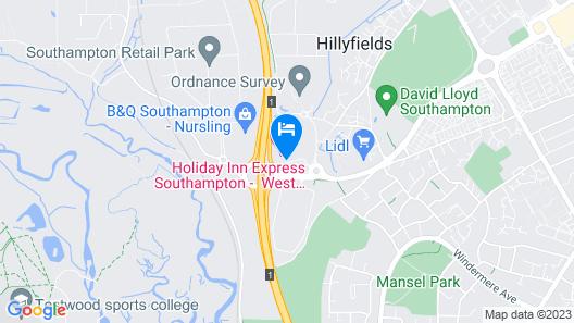 Holiday Inn Express Southampton - West Map