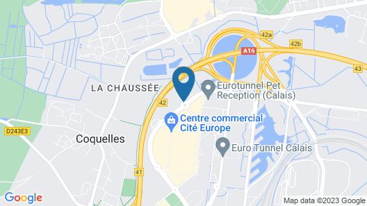 ibis Calais Tunnel sous la Manche Map