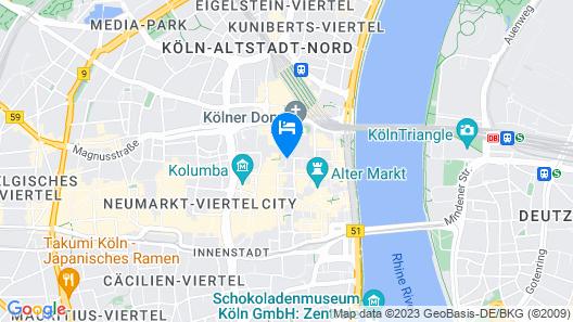 Eden Hotel Früh am Dom Map