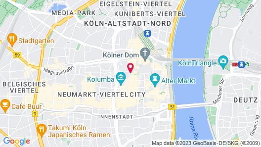 Hotel Königshof The Arthouse Map