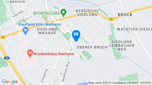 Aparmtment Köln Neubrück Map